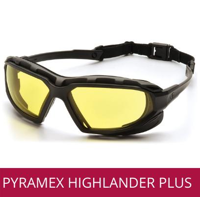 Gafas de seguridad y protección industrial PYRAMEX HIGHLANDER PLUS AMBAR