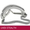 Gafas de seguridad UVEX STEALTH para formula color gris