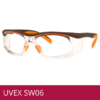 Gafas de seguridad UVEX SW06 naranja/ marrón